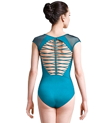 Jozette for Mirella Braid Back Cap Sleeve Leotard