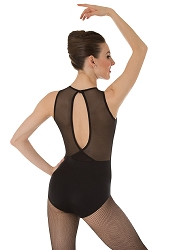 Power Mesh Slit Back Leotard by Premiere