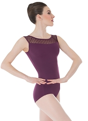 Dotted Yoke Leotard by Premiere