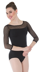 Dotted 3/4 Sleeve Leotard by Premiere