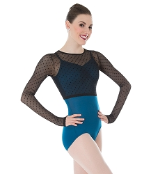 Dotted Mesh Long Sleeve Shrug by Premiere
