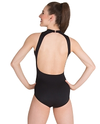 Mock Neck Open Back Leotard by Premiere
