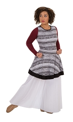 Tribal Simplicity Sleeveless Pullover by Body Wrappers