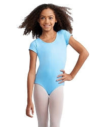Childrens Team Basic Short Sleeve Leotard by Capezio