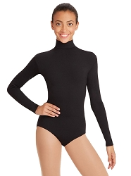 Team Basic Turtleneck Long Sleeve Leotard