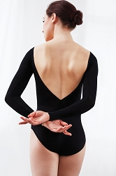 Sunset V Back Long Sleeve Leotard by Capezio
