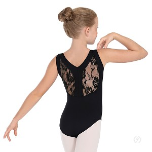 Girl's Lacey Back Leotard by Eurotard
