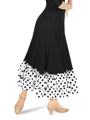 Flamenco Skirt with Polka Dotted Ruffle by Baltogs