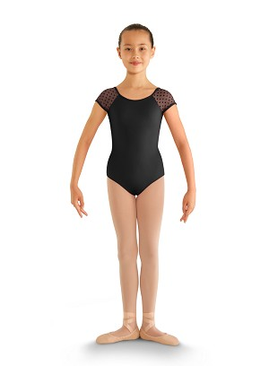 Heart Mesh Cap Sleeve Leotard by Bloch