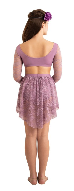 Lace Drape Half Skirt by Body Wrappers
