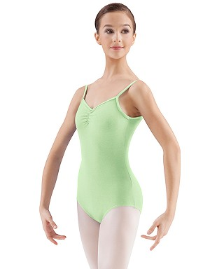 221cd90bb Pinch Front Camisole Leotard by Mirella