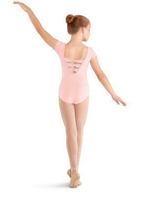 3 BOW BACK CAP SLEEVE LEOTARD BY MIRELLA