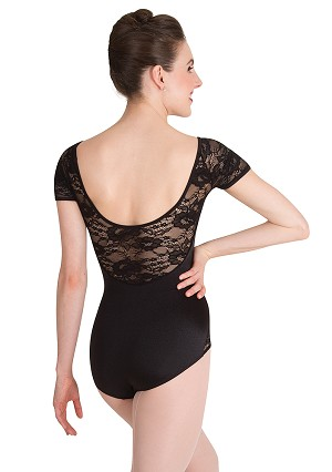 Lace Short Sleeve Leotard by Premiere