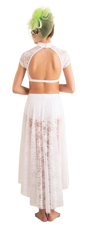 Children's Lace Convertible Long Back-to-Front Skirt by Body Wrappers