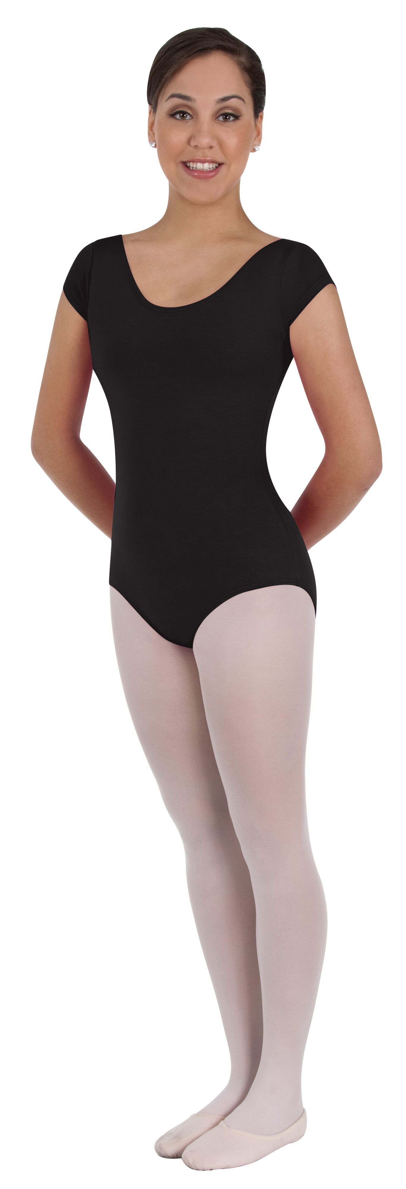 Short Sleeve Ballet Cut Leotard by Body Wrappers