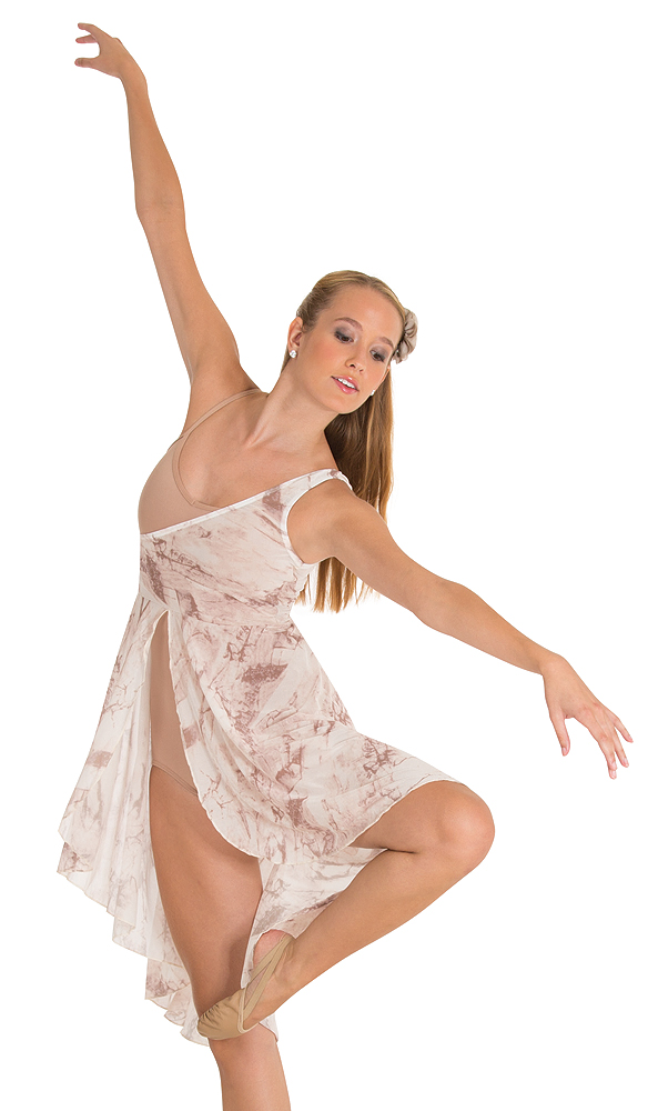 Tie-Dye Hi-Lo Dance Dress by Body Wrappers