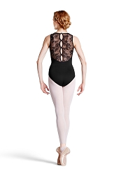 Fresia Floral Lace Tank Button Back Leotard by Bloch
