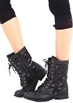 Kombat Boot by Gia Mia