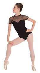 Diamond Mesh Cap Sleeve Leotard by Premiere