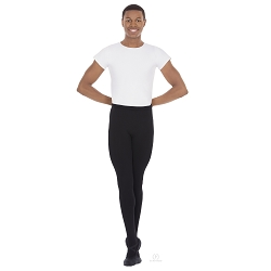 Mens Footed Tights with Soft Woven Waistband by Eurotard