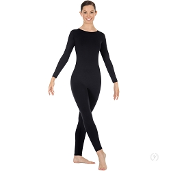 Zipper-Back High Neck Long Sleeve Unitard by Eurotard