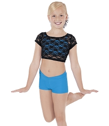 Childrens Lace Crop Top by Eurotard