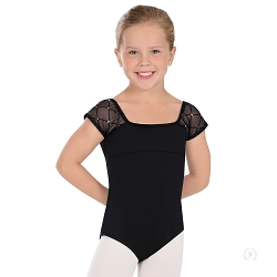 Girl's Diamond Cap Sleeve Leotard by Eurotard