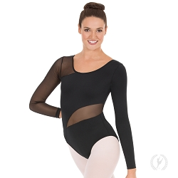 Asymmetrical Mesh Leotard by Eurotard
