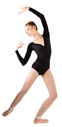 FLocked Long Sleeve Leotard by Premiere