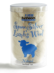 Spun Silver Lambs Wool by Bunheads
