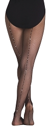 Childrens Rhinestone Seamed Fishnet by Body Wrappers