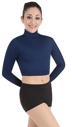 Long Sleeve Turtleneck Midriff Pullover by Body Wrappers