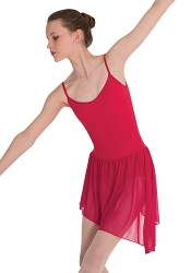 V-Front Asymmetrical Dance Dress by Body Wrappers