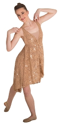 Sequin Lace Hi-Lo Dance Dress by Body Wrappers