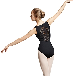 Peacock Plume Diamond Back Leotard by Mirella