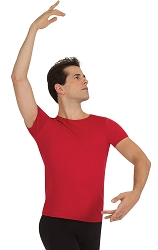 Mens Short Sleeve Snug Fit Pullover by Body Wrappers
