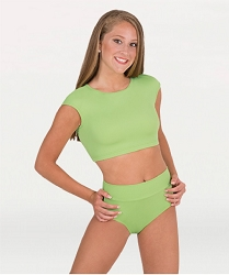 Children's Shiny Hi-Waist/Roll-Down Brief by Body Wrappers