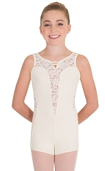 Tween Boy Cut Romantic Lace Leotard by Premiere