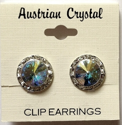 Crystal Clip-On Earrings by CJ Merchantile