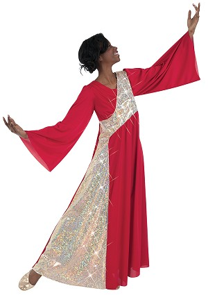 Adult Stained Glass Bell Sleeve Dress by Body Wrappers