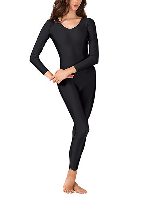 Cotton Lycra Long Sleeve Scoop Neck Unitard by Baltogs