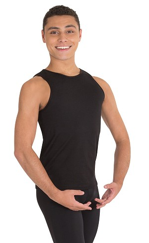 Mens Hi Neck Tank Pullover by Body Wrappers