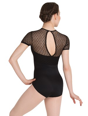 Dotted Cap Sleeve Leotard by Premiere