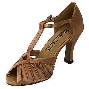 "2.5"" Open Toe Pleated Ballroom Shoe by GoGo"